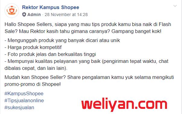 Cara Menampilkan Produk di Flash Sale Shopee